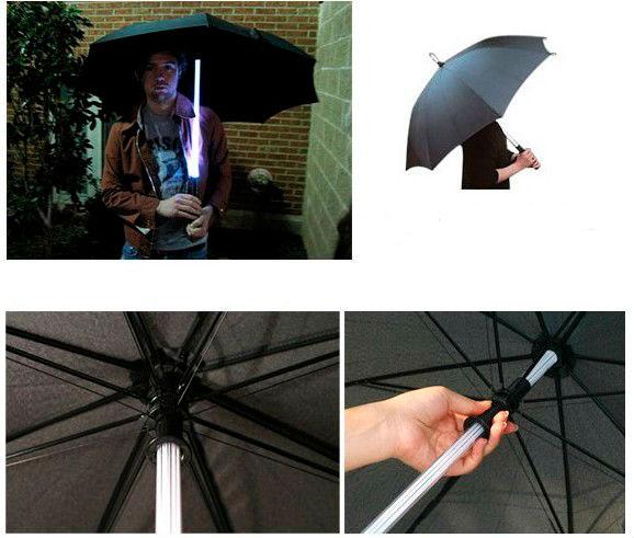 Зонт со светящейся тростью