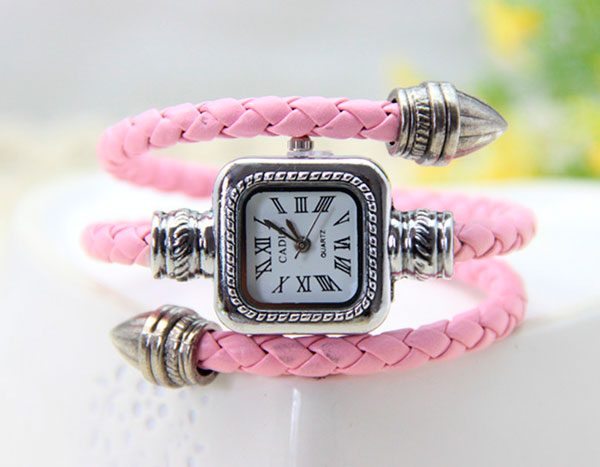 Pink-9-colors-Vintage-Leather-Bangle-Bracelet-Watch-Woman-Snake-Watch-1piece-lot-Accept-Dropshipping